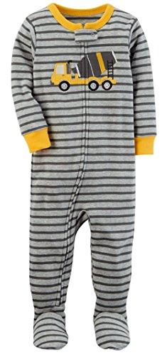 Carter's Baby Boys' 1-Piece Snug Fit Cotton Pajamas (Construction Truck) (12 Months) - Carters 1 Piece Cotton