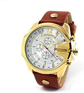 Curren for Men - Analog Leather Band Watch - 8176
