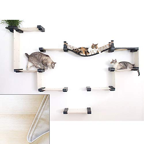 Temple Bridge - CatastrophiCreations The Cat Mod Bridge Temple Complex for Cats in Natural, 90 in W X 60 in H, 36 LB