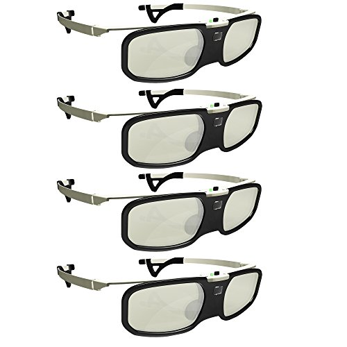 Firestorm LT 2.0! DLP link 3D glasses by True Depth 3D rechargeable & lightweight (compatible with Benq, Optoma, Acer, Vivitek, Dell Etc) & All DLP HD 3D TVs At 96 Hz, 120 Hz and 144 Hz! (4)