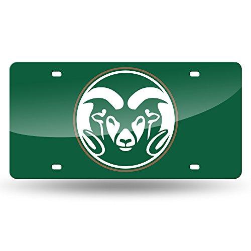 NCAA Colorado State Rams Laser Inlaid Metal License Plate Tag