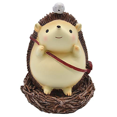 Anlydia Cute Animal Hedgehog Coin Bank Savings Jar Piggy Bank