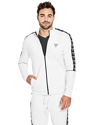 GUESS Factory Men's Lorenzo Mock-Neck Zip - Guess White Jacket
