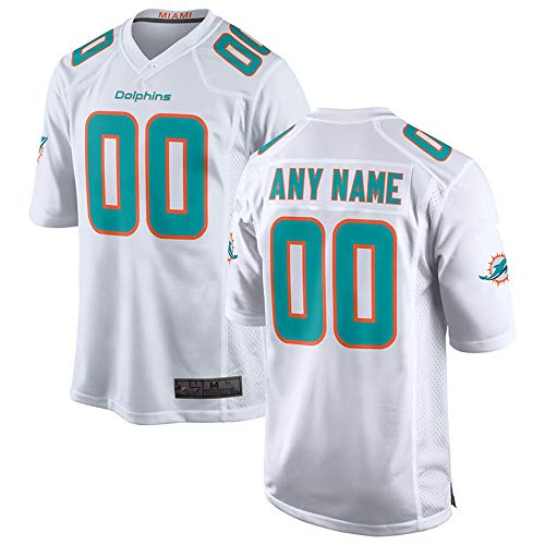 Custom Jersey Miami Dolphins - Men's Miami_Dolphins_White 2018 Custom Game Jersey (L)