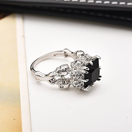 DALARAN Gothic Jewelry Skull Ring Size 9 Silver Band High Polished Comfort Fit Women Men Accessories by DALARAN (Image #4)