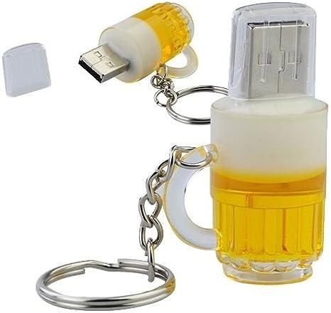 Vaso de Cerveza 8 GB - Memoria Almacenamiento de Datos – USB Flash ...