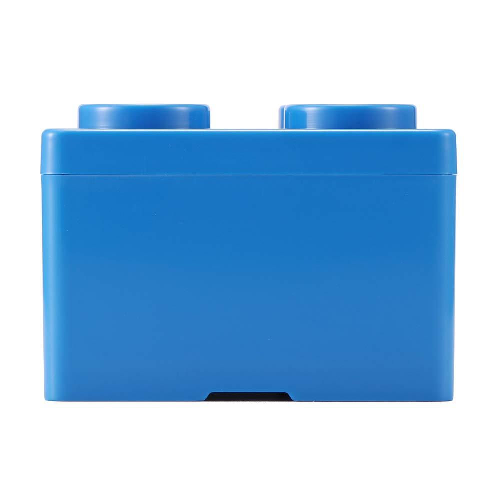 Organizador de Bloques de construcci/ón de PP port/átil para Guardar Juguetes Winbang Caja de Almacenamiento Small Blue S Regalo