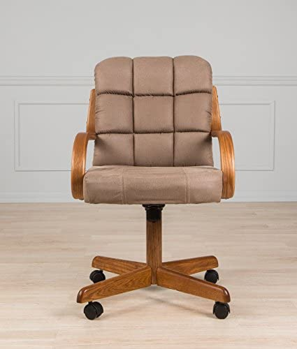AW Furniture Casual Dining Cushion Swivel and Tilt Rolling Caster Chair