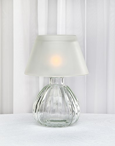 small glass table lamp - 1