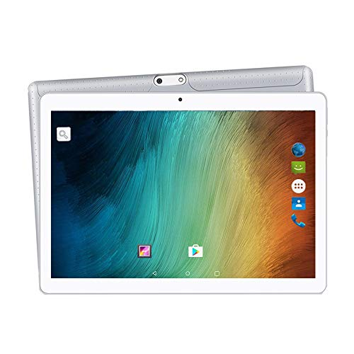 2019 Upgrade - YUNTAB 10.1 inch Android Tablet Unlocked 3G Smartphone, Support Dual SIM Card Slots, 2GB RAM, 16GB ROM, Quad-Core Processor, IPS Touch Screen,with Dual Camera WiFi(Silver)