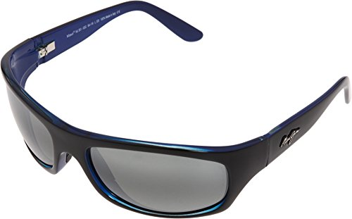 Maui Jim Surf Rider Sunglasses Black with Blue / Neutral - Sunglasses Surf Womens