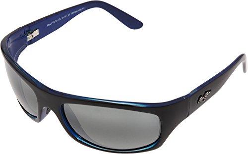Maui Jim Surf Rider Sunglasses Black with Blue / Neutral - Surf Womens Sunglasses