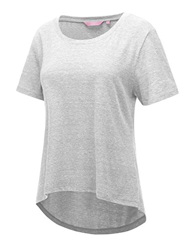 Regna X Workout Tops for Women Loose Plus Size White Shirts for Women White XL