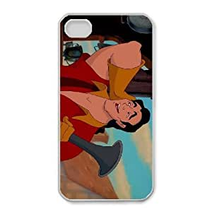 iphone4 4s Phone Case White Beauty and the Beast Gaston YU9384986