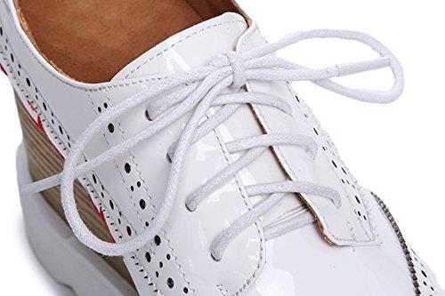 White Double À KJJDE La WSXY Bullock Main Creepers Plateformes Q1618 Chaussures Sangles Femme Baskets Semelles 37 Croisées Chaussures Broderie À 4UFznA4wqa