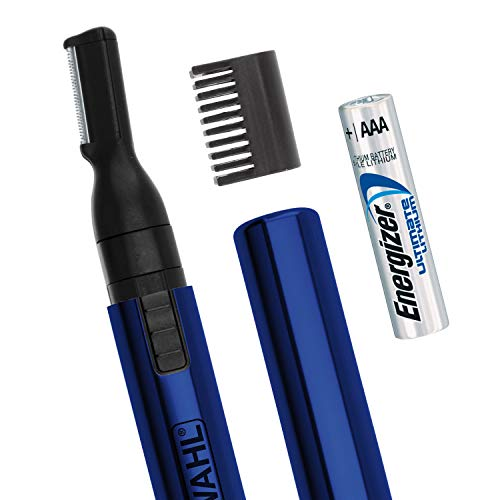 - Wahl Lithium Pen Detail Trimmer for Nose, Ear, Neckline, Eyebrow, Other Detailing - Blue - By the Brand Used By Professionals - Model 5643-400