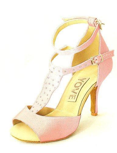 ShangYi Latin Customizable Women's Sandals Satin Dance Shoes (More Colors) Almond A2gIRhS0