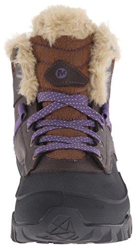Merrell FLUORECEIN SHELL 6 WTPF - botas de senderismo de piel mujer marrón - Braun (Chocolate Brown)
