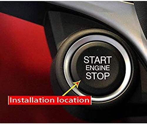 Andifany ABS Car Engine Start Stop Switch Button Cover Trim for Alfa Romeo Giulia Stelvio 2017 2018 Red