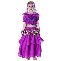 Fairycece Halloween Costumes Set Kids Belly Dancing Deals