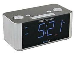 Emerson Smart Set AM FM Dual Alarm Clock Radio AuxIn BigDisplay