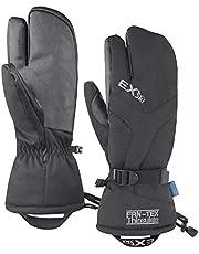 EXski Men Ski Mittens 3 Finger Thermal Waterproof Winter Snowboard Snowmobile Snow Work Gloves