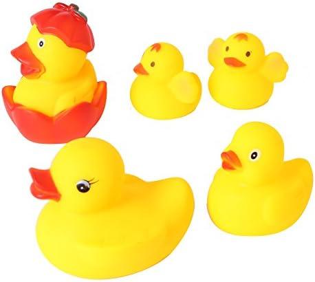 アヒル 親子アヒル 5羽 お風呂おもちゃ 水遊びおもちゃ