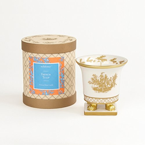 Toile Ceramic (Seda France Classic Toile Ceramic Petite Candle French Tulip 5 oz)