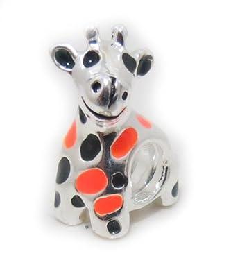 80bdc94d3 ... cheapest authentic highest quality giraffe charm bead fits pandora  charm bracelet chamilia biagi trollbeads european bracelets ...