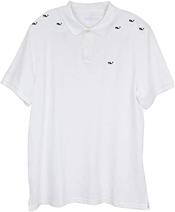 Vineyard Vines Boys White Cap Classic Pique Short Sleeve Polo Shirt