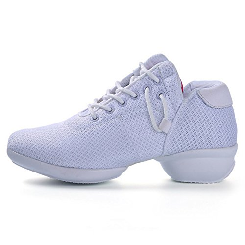 Product image of Women's Mesh Jazz Shoes Lady Girls Modern Split-Sole Dance Sneakers for Ballroom Breathable Lightweight