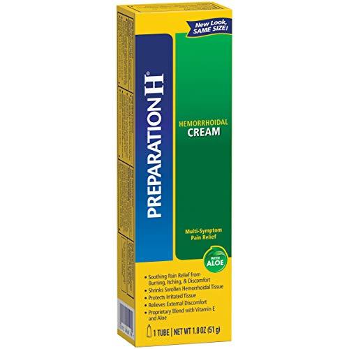 Preparation H Hemorrhoid Symptom Treatment Cream (1.8 Ounce Tube), Maximum Strength Multi-Symptom Pain Relief with ()
