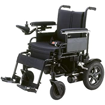 Drive Medical Cirrus Plus Folding Power Wheelchair with Footrest and Batteries, Black, 20""