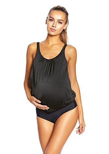 Atractivo bañadores maternidad pulpo ajustable correas/1185- F5241 Tankini Schwarz / Black Design G(sw) 0