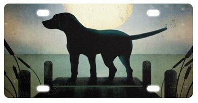Lievon Labrador Retriever Puppies Novelty License Plate Decorative Front - Decorative Labrador Accessories Retriever