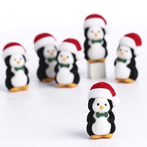Factory Direct Craft Package of 12 Flocked Miniature