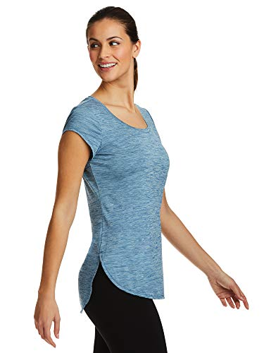 Reebok Women's Legend Performance Top Short Sleeve T-Shirt - Dark Blue Heather, X-Small by Reebok (Image #1)