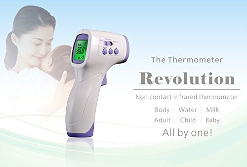 Btibpse Multi-purpose Infrared Thermometer Non Contact Baby Forehead Thermometer Digital Thermometer for Kids and Surface ()