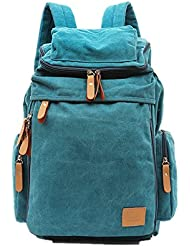 Nasis Unisex Women Men's Large Basic Canvas Backpack Multi Function Daypacks AL5012
