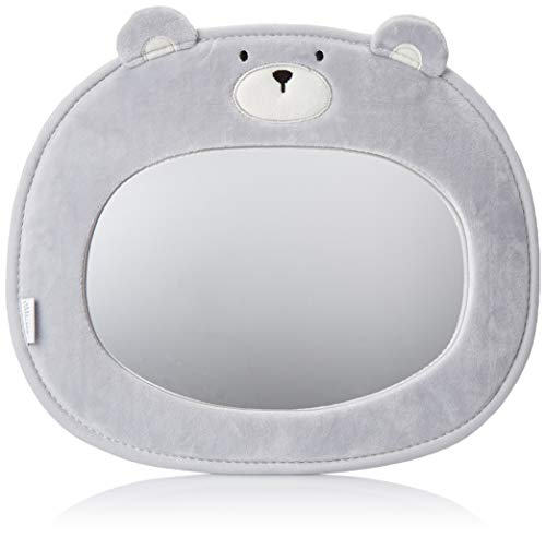 Little Me Baby Backseat Mirror for Car - View Infant in Rear Facing Car Seat, Bear, Child Toddler Travel