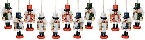 12 Nutcracker Christmas Tree Ornaments