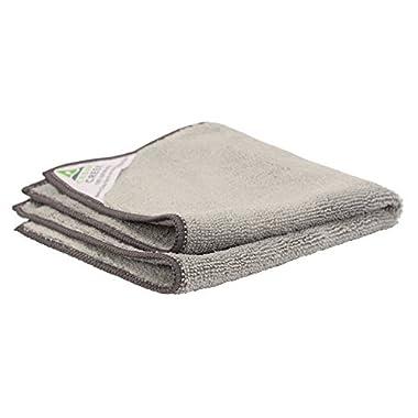 Cedar Creek 12 x12  Premium Plush Microfiber Cleaning Cloths, Professional Grade, Gray, 12 Pack