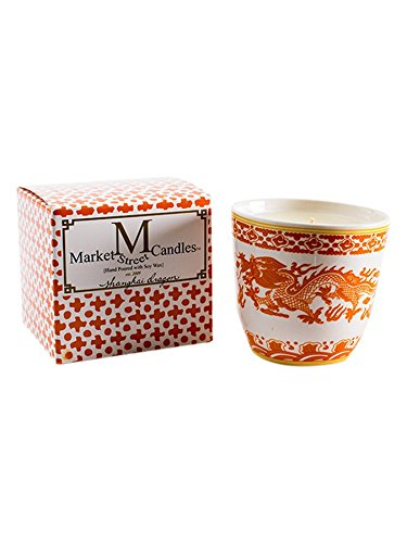 10.5 Ounce Candle - Market Street Candles Orange Shanghai Dragon Soy Wax Candle, 10.5 oz, Citronella