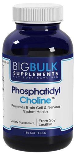 Phosphatidylcholine Favorise cerveau et du système de santé en bloc nerveux Big suplements lécithine de soja 400mg 140mg Phosphatidylcholine 180 Softgels 1 Bouteille