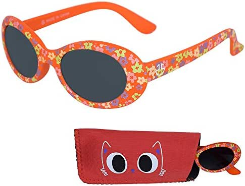 Baby Sunglasses, Rubber Frame Infant & Toddler Sunglasses Ages 0-3 Years, 100% UV Protection