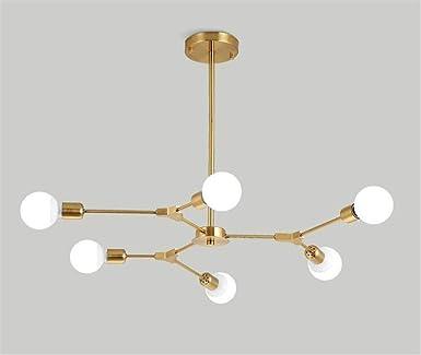 Lámpara de araña Sputnik Luminaria de montaje semi empotrada ...