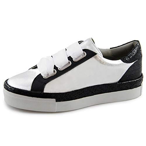 Basse Verena Donna black 00751 Marc Silver Da nappa Grigio Ginnastica Shoes Scarpe laminato qAx5ZTwR5X