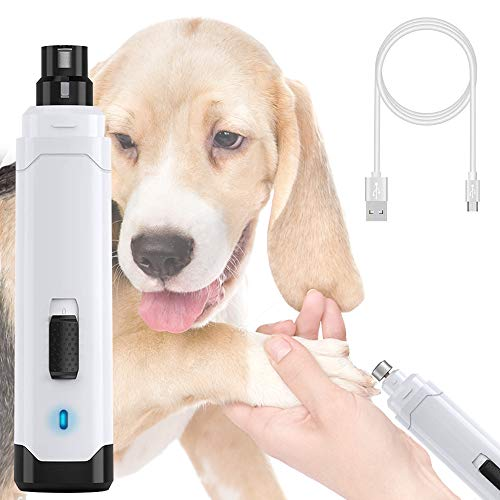 gelugee Pet Nail Grinder 2 Speed - Rechargeable Electric Pet Nail Trimmer Quiet Gentle Painless Paws Trimming & Smoothing for Small Medium Large Dogs Cats