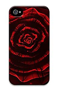 Digital Image Printed On the Single Back Cellphone Case Cover For iPhone 4 3D Hard Plastic Shell Skin For iPhone 4-Flower 4