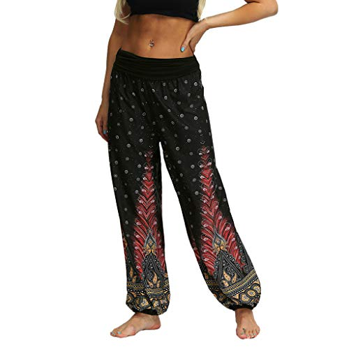 Baggy Boho Aladdin Pants Men Women Casual Loose Hippy Yoga ()